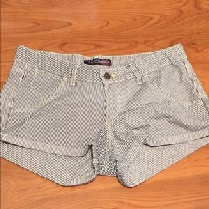Levi's Striped Denim Shorts