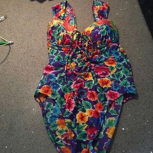 Gottex floral 1 piece