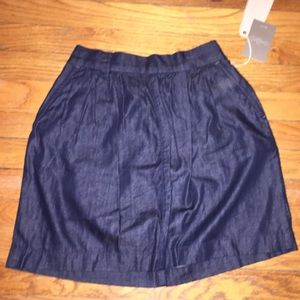 NWT Level 99 Denim Chambray Skirt