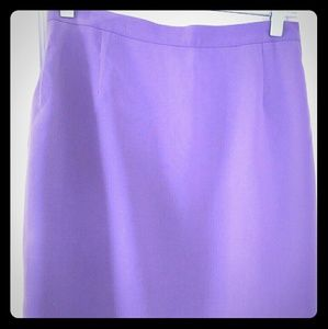 Lilac above the knee skirt.