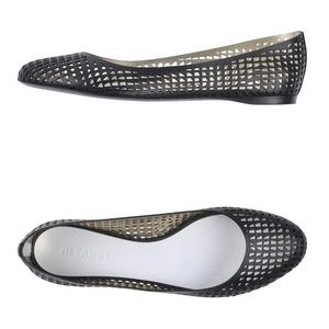 NEW! Jil Sander Perforated Leather Ballet Flat