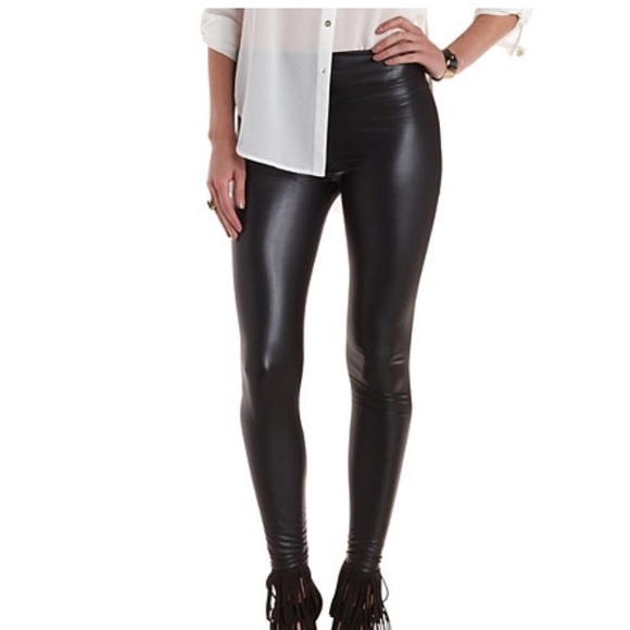 55% off Old Navy Pants - Old Navy Leather Leggings from Paige's ...