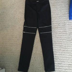 Pants - pants with zipper detail