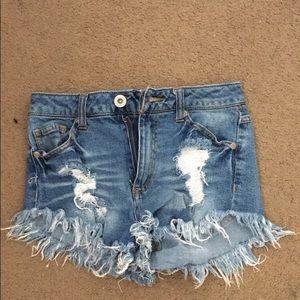 Size 1 denim shorts