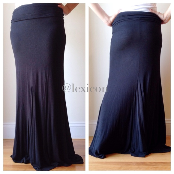 ce9ace1196c Rollacoaster Skirts | Final Price Black Jersey Maxi Skirt | Poshmark