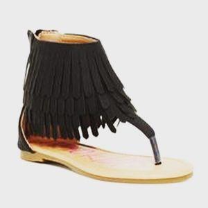 Other - 🎀Kids Sandals 🎀Nadia black fringe