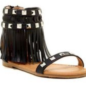 Other - 🎀Girl Sandals🎀 Nada black fringe studied Sandals