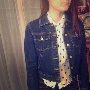 Express blue denim jacket like new size XS