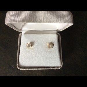 Jewelry - 3/4 C.T. Princess Cut Diamond Stud Earrings