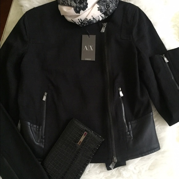 738ee41c6f4f NWT ARMANI EXCHANGE WOMEN S BLK JACKET SP🌺