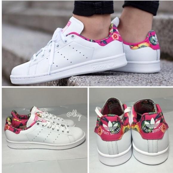 49e581bfb7c8 Adidas Shoes - 🆕ADIDAS ORIGINALS STAN SMITH FLORAL SNEAKERS –8