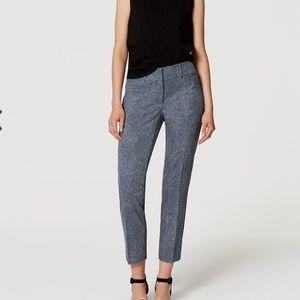 LOFT checkered cropped pants