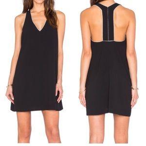 ALICE + OLIVIA HALLE DRESS – BLACK & OFF WHITE