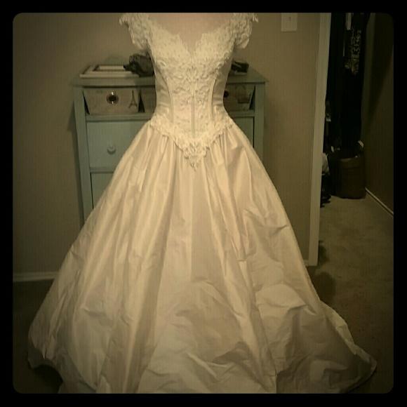 Dresses | Raw Silk Boutique Wedding Gown | Poshmark