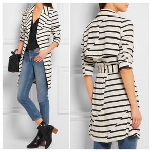 ⚡️⚡️MADEWELL STRIPE TRENCH COAT – SZ SMALL
