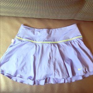 Ladies Nike Dri-Fit Tennis Skirt Purple