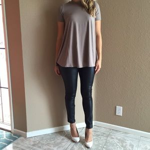 Taupe Mock Neck Tunic