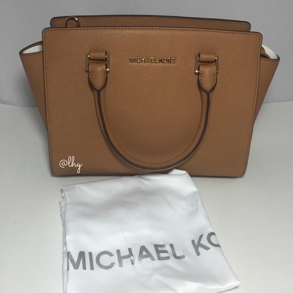 michael kors selma satchel khaki company rh toneelschuurproducties com