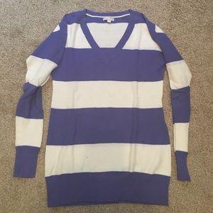 GAP Sweaters - GAP Maternity Purple and White Stripe Sweater