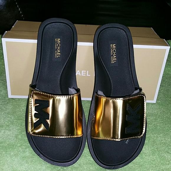 Michael Kors Shoes | Mk Slides Price Is