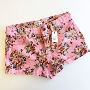 Forever 21 Pants - Floral Denim Shorts