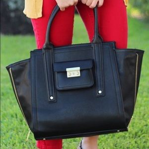 Philip Lim for Target Oversized Black Leather Tote