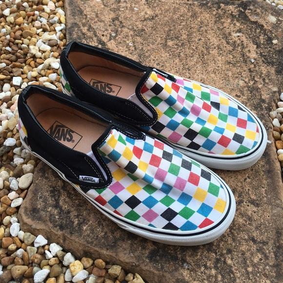 Vans Multicolor Checkerboard Classic Slip-On