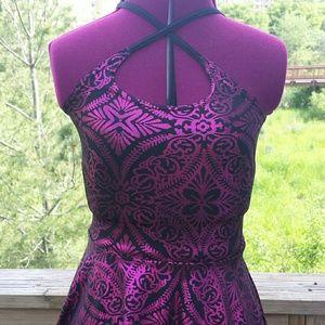 Blackmilk Dresses & Skirts - Blackmilk Geometric reversible foil skater dress