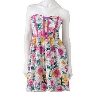 Kandy kiss Dresses & Skirts - BNWT Kandy Kiss water color strapless dress