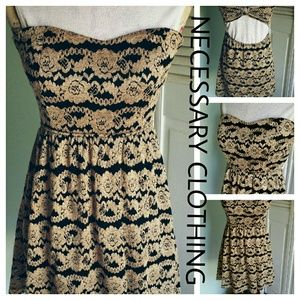 Necessary Clothing Dresses & Skirts - NECESSARY CLOTHING ✂️ Lacy Cut-out Strapless Dress