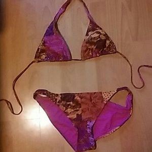 Womens swimsuit med top large bottom