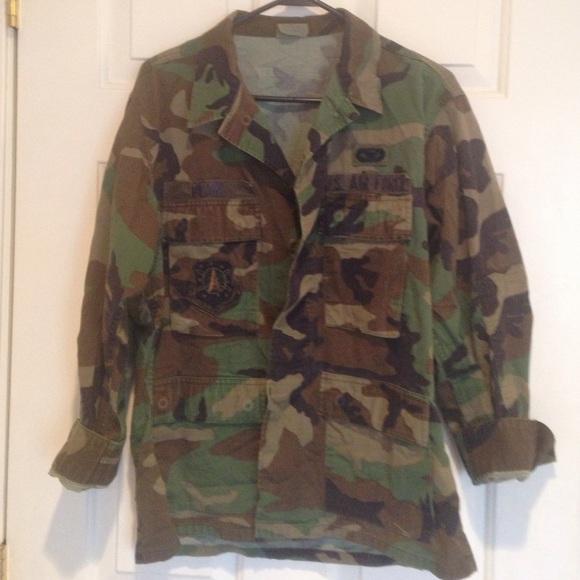 d007d6971d510 Jackets & Coats | Authentic Us Air Force Jacket Camo Military Jacket ...