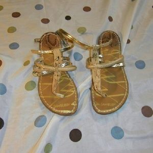 Gold sam & libby strappy sandals