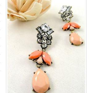 NWT Coral drop earrings!