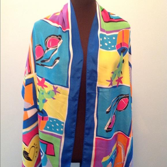 bob mackie sale bob mackie vibrant summer silk scarf