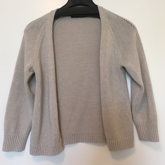 79% off The Limited Sweaters - Gold open front cardigan with 3/4 ...