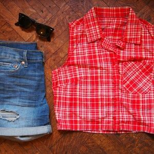 Vintage Plaid Crop Top