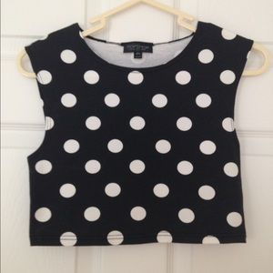 Topshop Tops - TOPSHOP Spot Stretch Crop Top NWOT