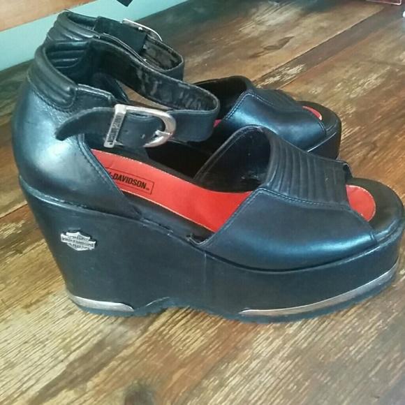 59961ef808fed Harley Davidson wedge shoes