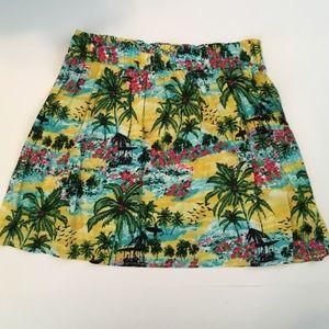 F21 High Waisted Hawaiian Mini Skirt