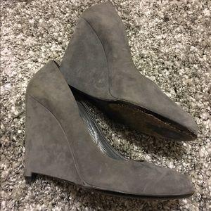 Miu Miu Shoes - Miu Miu gray suede wedges