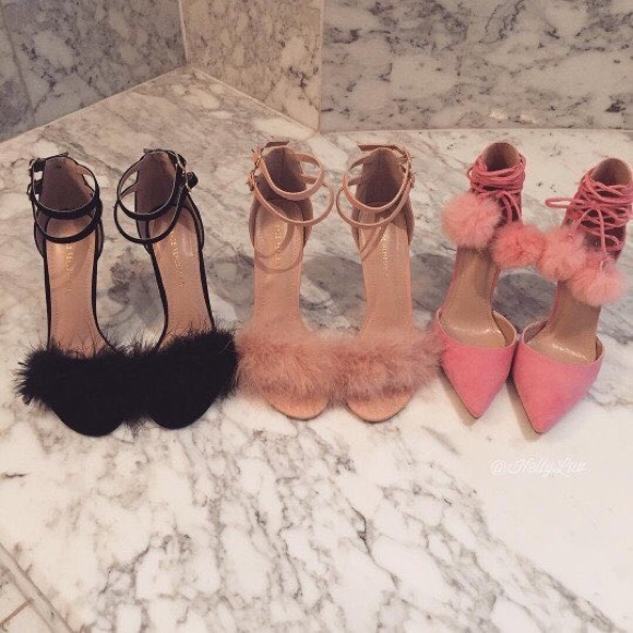Ⓜ️Pink Ankle Heels Strap Nwt Feather Sold On Yvgbf67y