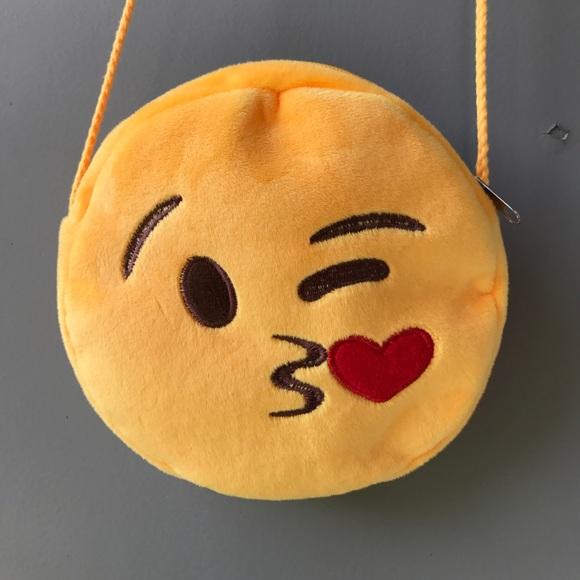 Fun Smiley Emoji Blowing Heart Kiss Crossbody bag Boutique
