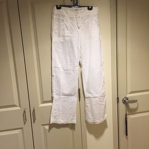 H&M white linen pants