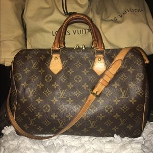 Authentic Louis Vuitton Bandouliere Speedy 35