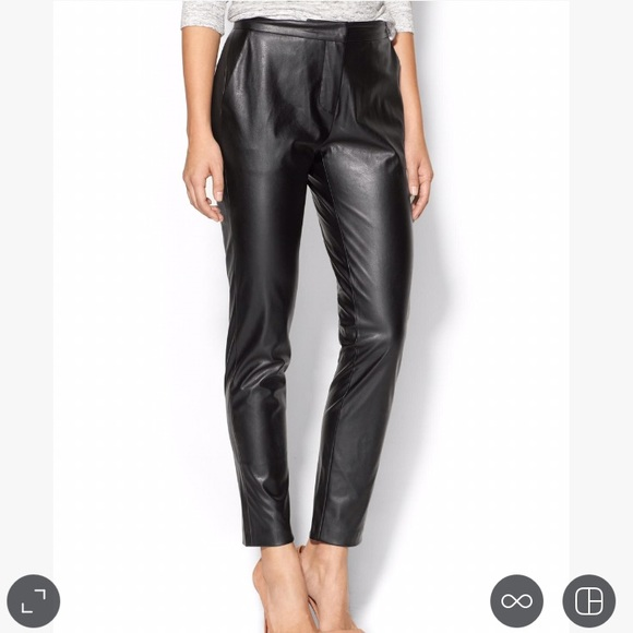 Twelfth Street by Cynthia Vincent Pants - Faux leather trousers