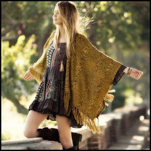 Dresses & Skirts - Boho Navy and Orange Mix Print Dress