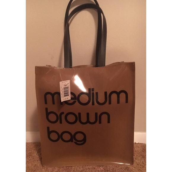 3e03662049 Bloomingdale's Bags | Bloomingdales Medium Brown Bag Plastic Tote ...