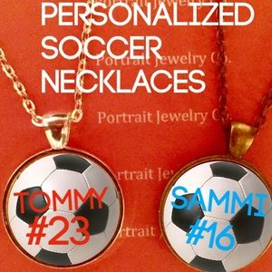 Jewelry - Personalized soccer necklaces