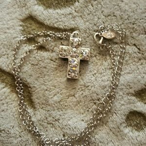 Cookie Lee  Jewelry - Cookie Lee ~ Cross with 6 crystals Pendant